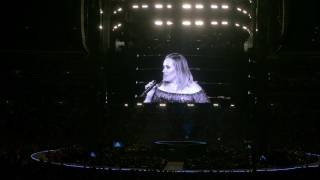 "ADELE - ""I might never see you again"" - just before she CANCELLED - Wembley"