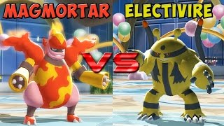 Pokemon battle revolution - Magmortar vs Electivire