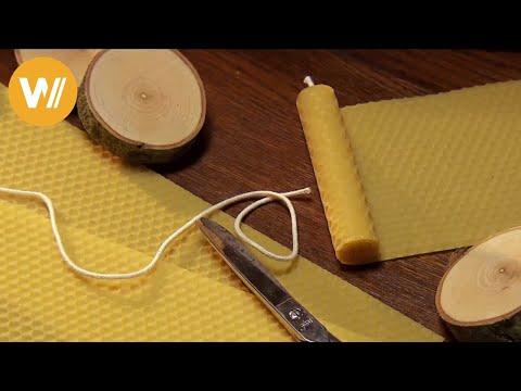 Kerzen aus Bienenwaben selber machen