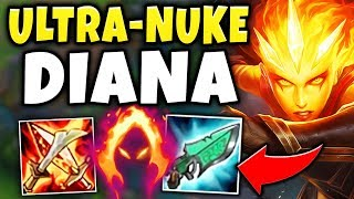 WTF?! DIANA CAN ONE-SHOT ANYONE WITH JUST ONE SPELL?!? HOW IS THIS ALLOWED!? - League of Legends