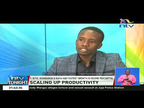 Scaling up productivity: Productivity is not growing commensurately with counties' growth