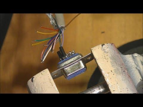 3Dfx voodoo 2 vga 15pin cable build.