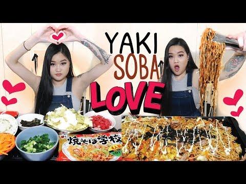 YAKISOBA LOVE NOODLE MUKBANG   EATING SHOW