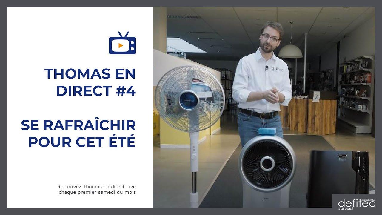 Thomas en Direct #4 - Les différences entre climatiseurs, refroidisseurs d'air et ventilateurs