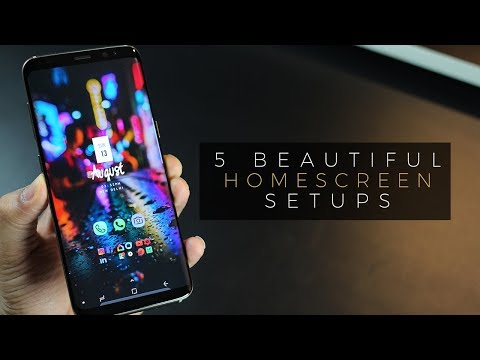 5 Beautiful Android Homescreen Setup on Galaxy S8