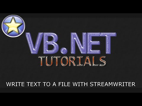 VB.NET Tutorial For Beginners – Writing to a File with StreamWriter (Visual Basic .NET)