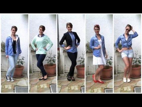 KOMBIWUNDER: 1 Jeanshemd - 5 Outfits