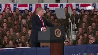 President Trump Delivers Remarks to Members of the Military