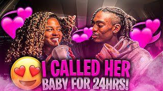 CALLING HER BABY FOR 24 HOURS TO SEE HER REACTION...