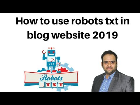 How to use robots txt in blog website 2019