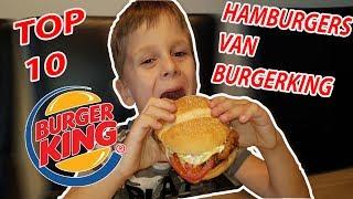 TOP 10 HAMBURGERS VAN BURGERKING PROEVEN !! KOETLIFE VLOG