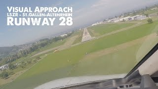 preview picture of video 'LSZR - Visual Approach Runway 28 with Cessna Citation Jet CJ4'