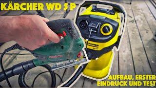 Kärcher WD 5 P (ohne Premium) Nass-/ Trockensauger Zusammenbau, erster Eindruck und Test - deutsch