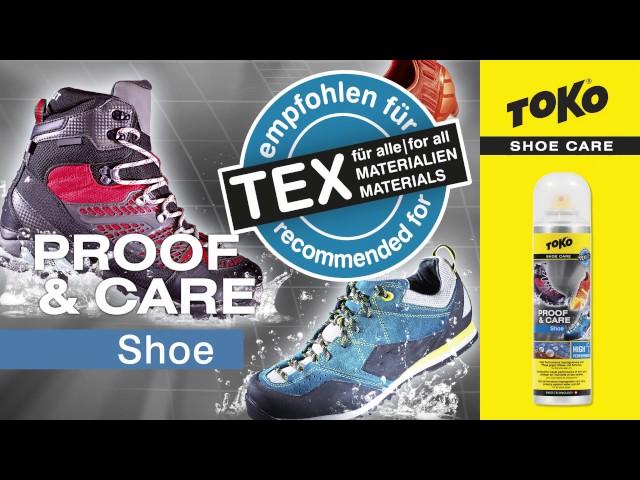 Видео Пропитка для обуви Toko Shoe Proof & Care 250 ml