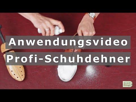 Anwendungsvideo Profi-Schuhdehner: Drückende Schuhe dehnen oder weiten.