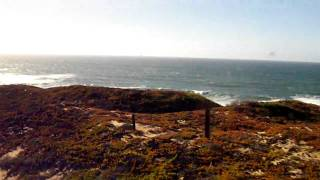 preview picture of video 'View of the Pacific coastline through Vanderberg AFB from the Amtrak's Coast Starlight'