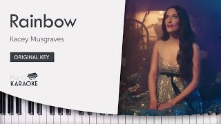 Kacey Musgraves - Rainbow Karaoke (Piano Instrumental) Original Key