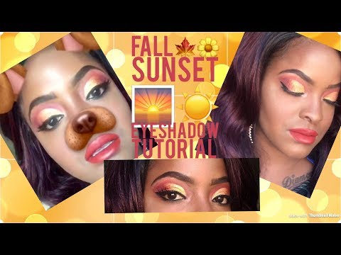 Sunset 🌅 eyeshadow Tutorial