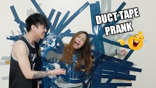 DUCT TAPE PRANK SA WALL