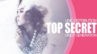 Top Secret - Girls Generation (Line Distribution)
