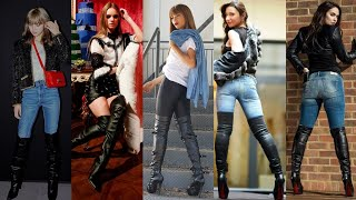 Newest Fashion Of Stilleto High Heel Leather&latex Long Thigh High Boots Designs Ideas#2020