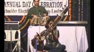 Anjali Gour on sitar