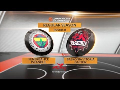 EuroLeague Highlights RS Round 25: Fenerbahce Istanbul 74-79 Baskonia Vitoria Gasteiz