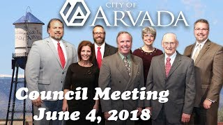 Preview image of City Council Meeting - June 4, 2018