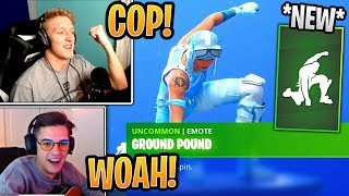 """Tfue & Streamers React to *NEW* """"GROUND POUND"""" Emote! - Fortnite Best and Funny Moments"""