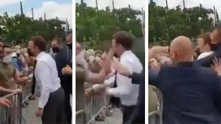 video: Watch: Emmanuel Macron slapped in the face