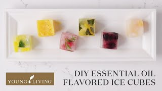 DIY Essential Oil Flavored Ice Cubes | Young Living Essential Oils
