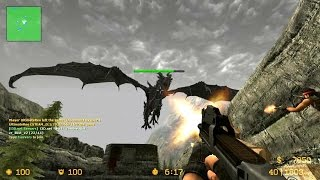 Counter Strike Source - Zombie Escape mod Multiplayer Gameplay Walkthrough on Skyrim map