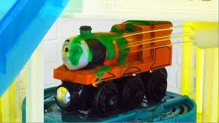 Wooden Thomas body wash playing,Thomas,Percy,Hiro,James☆Disney Cars