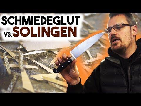 Test: Solingen vs. Schmiedeglut Küchenmesser + Camillus Vortex Giveaway