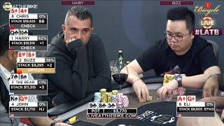 CRAZY ACTION in Deep Stack Ante Game ♠ Live at the Bike!