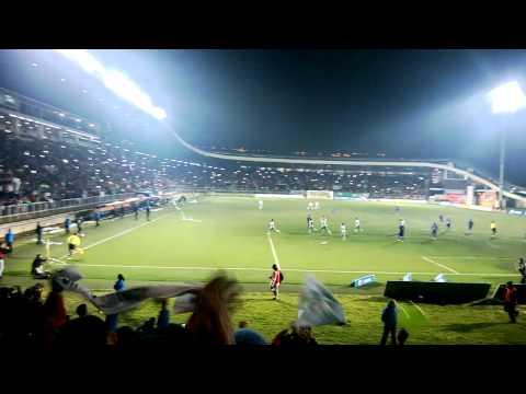 """Deportes Puerto Montt, Gol de Pablo Corral 2-0 a SAU, final 05.05.2015"" Barra: Los del Sur • Club: Deportes Puerto Montt"