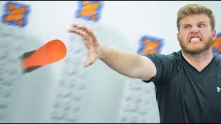 NERF Bullet Catch Challenge!