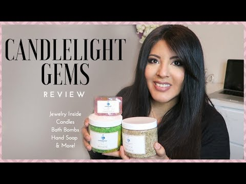 Candlelight Gems   REVIEW Bath Bomb, Candle Jewelry & MORE