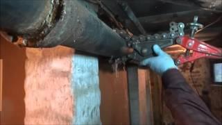 4 Inch Cast Iron Drain Pipe Repair