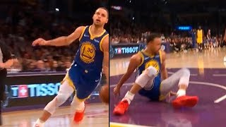 Steph Curry Dunk Attempt & Shaqtin Of The Year Nomination | Warriors vs Lakers