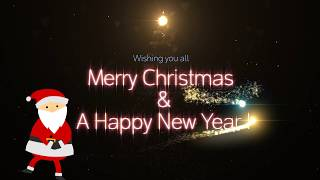 Merry Christmas greetings & wishes 2020, Christmas songs video background, Christmas animated wishes