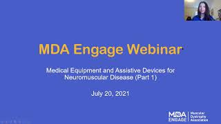 MDA Engage: Medical Equipment and Assistive Devices for Neuromuscular Disease – Part 1