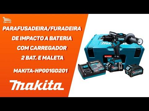 Parafusadeira/Furadeira de Impacto a Bateria 40V Li-Ion 140Nm com Carregador  2 Bat. e Maleta MAK-PAC - Video