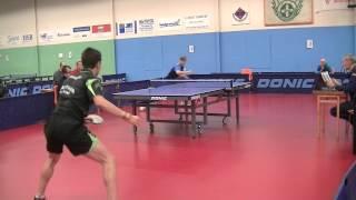 Смотреть онлайн Горячий поединок на чемпионате по настольном теннису