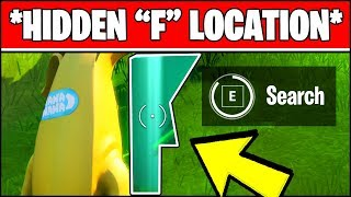 """SEARCH THE HIDDEN """"F"""" IN THE NEW WORLD LOADING SCREEN LOCATION (Fortnite Chapter 2 Season 1 Week 1)"""