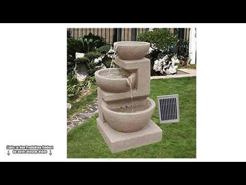 Wunderschöner römischer Solarbrunnen für den Garten - Dieser Garten Brunnen ist der Wahnsinn