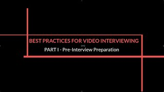 Best Practices for MBA Video Interviewing: Part 1 (of 3) – Pre-Interview Preparation thumbnail image