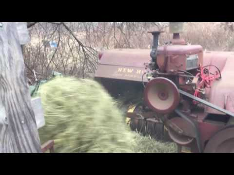 New Holland 68 baler with Wisconsin engine