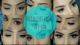 Socialeyes Lashes Try On | chelseabeauty_