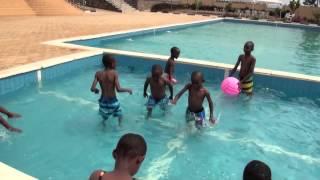 Swimming in Rwanda